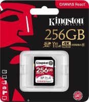 Карта памяти Kingston Canvas React UHS-I Class U3 V30 A1, 256GB