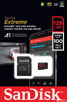 Карта памяти SanDisk Extreme microSDXC Class 10 UHS Class 3 V30 A1 100MB/s 128GB + SD adapter